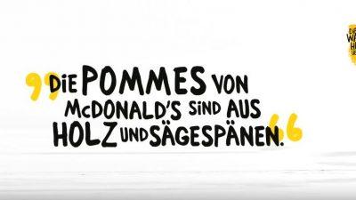 """McDonald's präsentiert die """"Wahrheit"""" über den Pommeswald"""